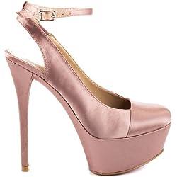 Paris Hilton Nuala, Platform Pumps Mujeres, Geschlossener Zeh, Knoechel Riemen, Groesse 7.5 US /38.5 EU