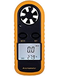 Jauge de vitesse de vent anémomètre thermomètre Portatif affichage LCD TE038