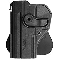 IMI Defense MAIN GAUCHE tactique Rétention Holster caché portez ROTO rotation étui de revolver tournat pour Sig Sauer Pro SP2022/SP2009