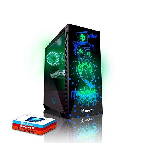 Fierce Gobbler High-End RGB Gaming PC - Schnell 4.5GHz Hex-Core Intel Core i7 8700K, 120GB Solid State Drive, 1TB Festplatte, 8GB 2666MHz, NVIDIA GeForce RTX 2070 8GB, Windows 10 installiert 866365 8 Gb Bundle Kit