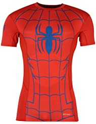 Sondico – Spiderman de Marvel Baselayer camiseta Juniors Rojo/Azul Deportes Compresión Top