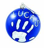 Baby Art Christmas Ball (Blue & Silver)