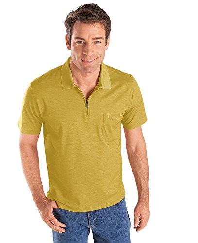 RAGMAN Herren RAGMAN Kurzarm Poloshirt Softknit Mango