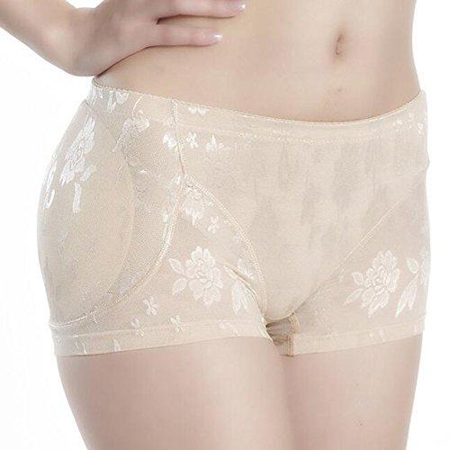 Toweter Damen Shapewear Hüfte und Hintern Gepolstert Panty Spitze Fleisch