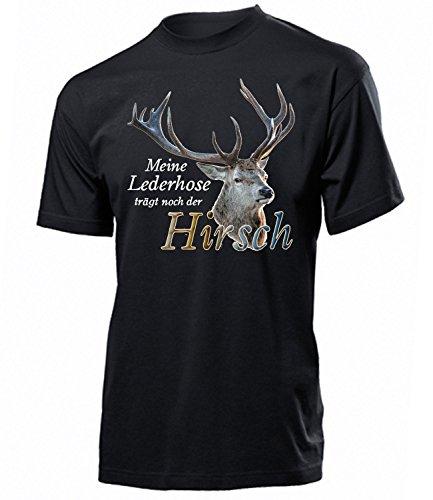 Meine Lederhose trägt noch der Hirsch 4365 Oktoberfest 2019 Männer Wiesn Herren T-Shirt Costumes Jogginghose Kostüm Oberteile Bier Trachtenhemden XXL (Herren Lederhose Oktoberfest Kostüm)