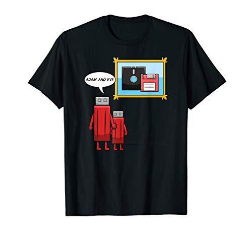 Computer Nerd Geek IT USB Stick Floppy Disc T-Shirt -