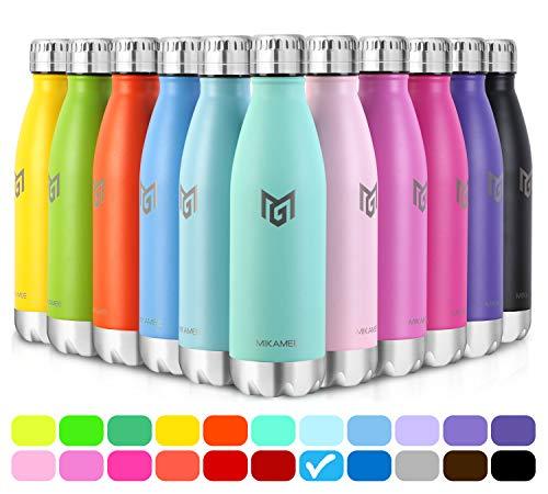 MIKAMEE Trinkflasche airBottle| 350,500,650,750ml Wasserflasche | Premium...