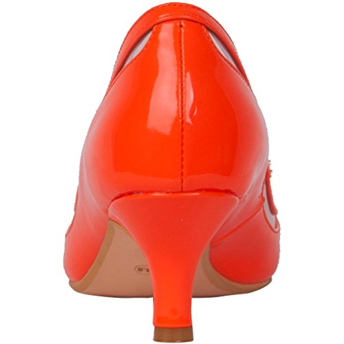 Calaier Damen Experience 9.5CM Stiletto Schlüpfen Pumps Schuhe Orange