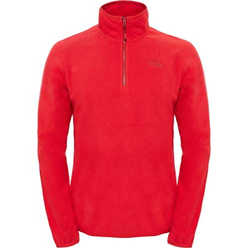 The North Face Men's 100 Glacier Pullover Homme, TNF Red , FR : XS (Taille Fabricant : XS)