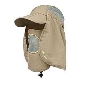 Generic Hat UV Protect Nylon for Camping Fishing - Khaki