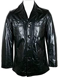 Amazon.it  giacca di pelle uomo - The Real Leather Shop   Giacche ... 7bd6aa0446f