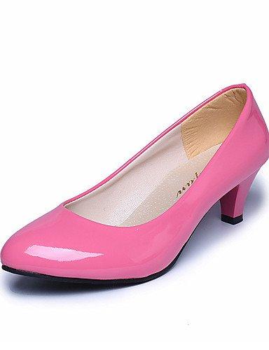 WSS 2016 Chaussures Femme-Mariage / Bureau & Travail / Habillé / Décontracté / Soirée & Evénement-Noir / Rose / Rouge / Blanc / Beige-Gros Talon- pink-us6 / eu36 / uk4 / cn36