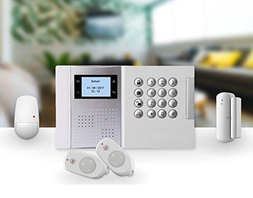 LGtron GSM Profi Funk Alarmanlage LGD8003P (Plus), 868MHz Rolling Code Verschlüsselung, bei Alarm SMS Anruf, Mittels App steuerbar, Smart Home Geräte fernsteuern, Service und Support
