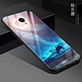 hlphjx Colorful Tempered Glass Phone Case For Meizu M5 Case