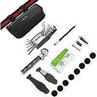 Guizen Fahrrad Reparatur Multifunktionswerkzeug, 16 in 1 Fahrrad Multitool, Multifunktions Fahrrad Mechaniker Fix Tragbare Werkzeuge Set Tasche mit