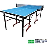 Gymnco Mini Table Tennis Table (6x3 ft) with Wheel ( Laminated Top 18 mm )