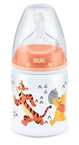 Preisvergleich Produktbild NUK Erste Auswahl Inklusive Winnie Pooh Silikon Nuckel Flasche - Orange