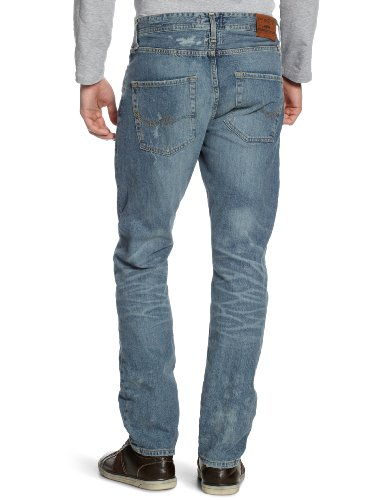 JACK & JONES VINTAGE - Jeans - Jambe droite Homme Bleu (Sc 615)