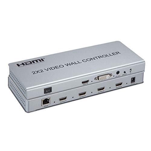 1080P 2x2 videowand Controller 1 HDMI/DVI Eingänge auf 4 HDMI Ausgänge Video Wall prozessor Unterstützung 1X2 2X1 2x2 3X1 1X4 4X1