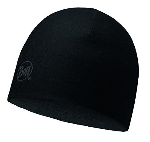 Buff Merino Wool Reversible Cappello, Nero, Taglia Unica