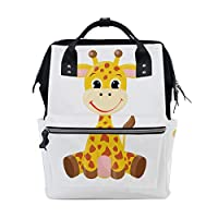 Cool Giraffe Baby Kids Animal Large Capacity Diaper Bags Mummy Backpack Multi Functions Nappy Nursing Bag Tote Handbag for Children Baby Care Travel Daily Women