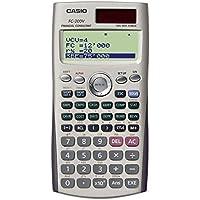 Casio FC-200V-S-EH - Calculadora financiera, 12.2 x 80 x 161 mm, gris