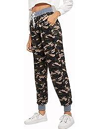 LXIANGP I Pantaloni delle Donne Moda Alta Vita Camouflage Pantaloni Casual  Piedi delle Signore Pantaloni Harem 85479a909a79