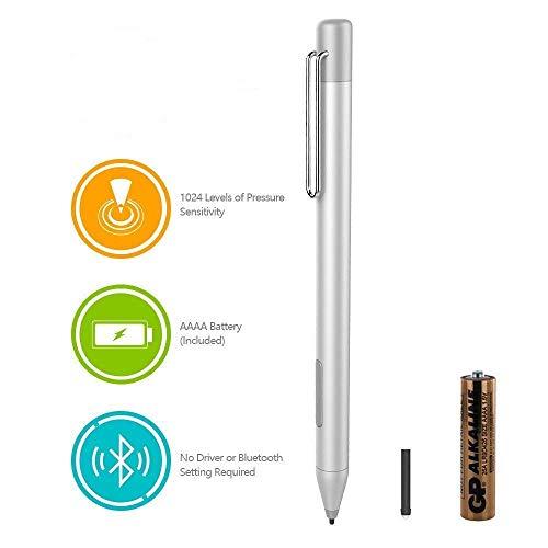 HP Digital Pen Stylet Actif pour HP Spectre x36013-ac023dx, X212-c012dx, 13-ac013dx, 13-ac033dx, 15-bl012dx, 15-bl112dx, HP Envy 36015M-bp012dx, HP Pavilion x36011M-ad013, 14M-ba013dx (Silver)