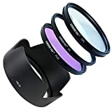 LOOKit Kamera Gegenlichtblende HB-32 + Filterset 67 inkl. UV Filter + CPL Filter + FLD Filter + Schutztasche für Nikon AF-S DX NIKKOR 18–105 mm 1:3,5–5,6G ED VR, Nikon AF-S DX NIKKOR 18–140mm 1:3,5–5,6G ED VR, Nikon AF-S DX NIKKOR 18-135 MM 1:3,5-5,6 ED, AF-S DX ZOOM NIKKOR 18-70 MM 1:3,5-4,5G ED-IF Objektiv Zubehör Sonnenblende Streulichtblende