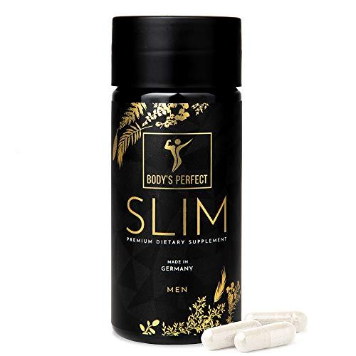 SLIM Kapseln zum Abnehmen I für Männer entwickelt I Hochdosiert mit 3.8G ETD Glucomannan I zertifiziertes Produkt von der Marke BODY\'S PERFECT