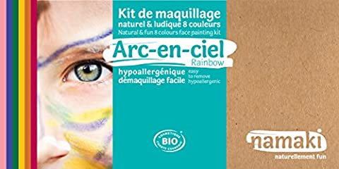 Namaki - Kit de maquillage enfants BIO - Arc-en-ciel - 8 couleurs