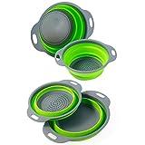 Colosun 2-teiliges faltbares Sieb-Set, tragbare faltbare Filterkörbe,...