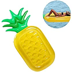 KAIHONG Flotador Gigante de Piña, Tumbona Flotadora/ Tumbona de Piscina Juguete para Adultos y Niños (Piña)