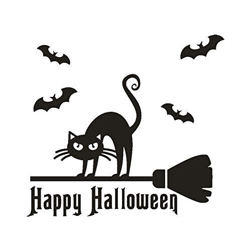 Happy Halloween Pumpkin Bone Wall Sticker Window Home Decoration Decal Decor (Winnie Happy The Halloween Pooh)