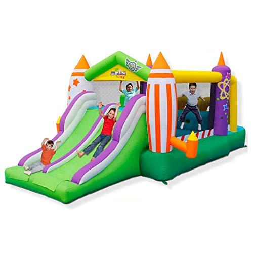 WJSW Hüpfburgen Kinderaufblasbare Burg Kinderspielzeug Innen- und Außenrutschen Haushaltsspielzeug Trampolin Platz Großer Vergnügungspark
