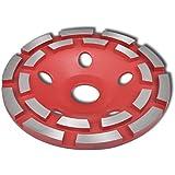 vidaXL Meule assiette diamantée à double rangée en acier diamètre de 125/180mm au choix