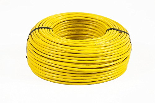 7 Kabel LAN Ethernet DSL Media Telefon Gigabit 10Gbit Netzwerkkabel halogenfrei Installationskabel PIMF Netzwerk Verkabelung Datenkabel S/FTP 4x2xAWG23 BauPVO EN 50575 gelb ()