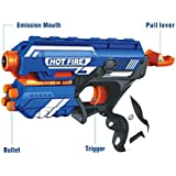 Foam Blaster Gun Toy, Safe And Long Range, 10 Bullets