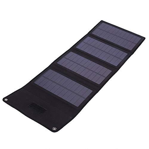 Cuando viaja al aire libre o acampa, quedarse sin baterías es algo muy molesto. Pero si tiene este cargador solar, no tiene que preocuparse por ello. Los paneles solares pueden cargar la mayoría de los dispositivos que requieren una fuente de aliment...