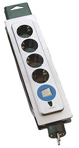 Preisvergleich Produktbild as - Schwabe 18614 Profi-Steckdose 4-fach mit Überspannungsschutz,  1, 6m H05VV-F 3G1, 5,  IP20 Innenbereich