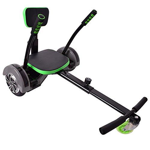"""Hoverseat Hoverboard Scooter Seat Sitz Zubehör Hoverkart Balance Boards schwarz verstellbar für 6,5"""" 8"""" 10"""" geeignet"""