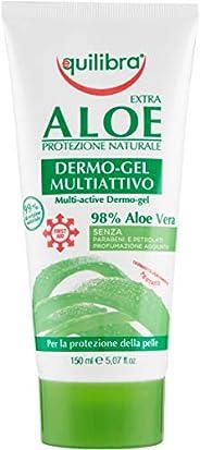 Equilibra Corpo, Aloe Dermo-Gel, Gel Lenitivo a Base di Aloe Vera, Svolge un'Azione Protettiva, Crema Corp