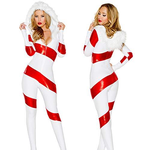 XSQR Sexy Weiß Weihnachtsmädchen Kleid Schneemann Weihnachtskostüm Nachtclub -