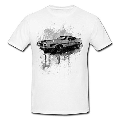Ford Mustang Mach T-Shirt Frauen, Mädchen mit stylischen Motiv von Paul Sinus (Ford-kinder-t-shirt)