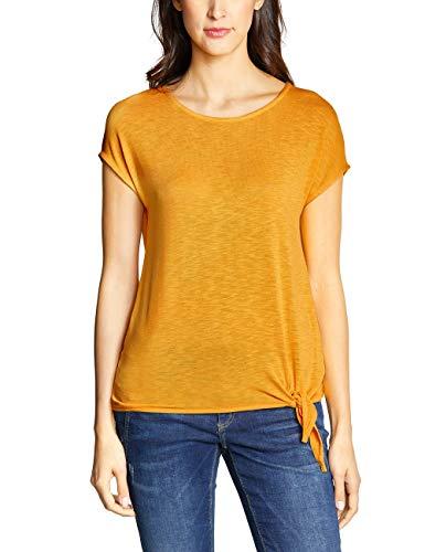 Street One 313524 Femke Camiseta, Amarillo (Bright Clementine 11804), 36 (Talla del Fabricante: 34) para Mujer