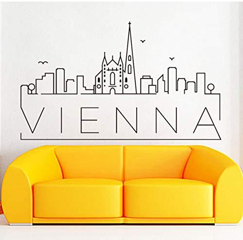 CHJKMN Schöne wandaufkleber abnehmbare wohnzimmer dekor kreative schlafzimmer land dekor 58cm x 98cm (Restaurant Dekor Land)