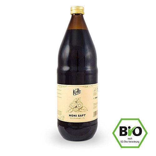 KoRo ● Bio Noni Saft ● 1 Liter ● 100% Direktsaft Aus Der Noni Frucht ● Ohne Zusätze Wie Zucker