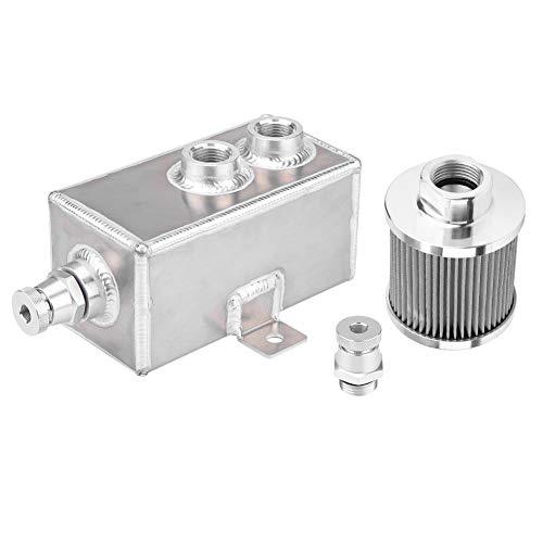 KIMISS [Aluminio y acero inoxidable] 1L Depósito de aceite El tanque de...