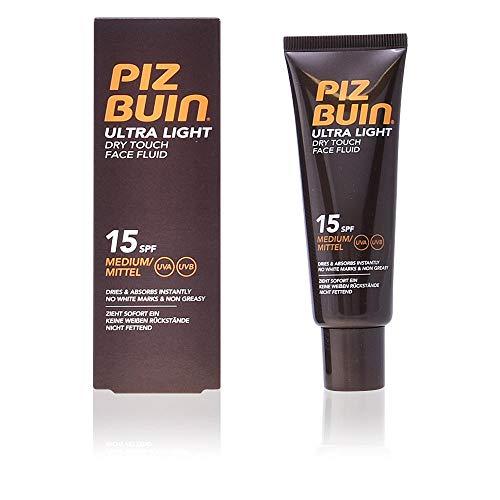 Piz Buin Ultra Light Dry Touch Fluide/Ecran Solaire pour Visage SPF15 50 ml