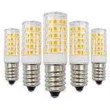 Lampadina a LED E14, 12 V, 4 W, luce bianca calda, 3000 K, sostituisce lampadine alogene da 40 W, a bassa tensione, non dimmerabile, a risparmio energetico, 5 pezzi